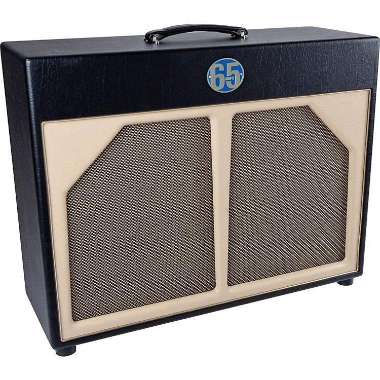 65amps 2x12 Guitar Speaker Cabinet - High Power Blue Line Black