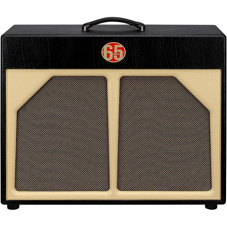 65amps 2x12 Guitar Speaker Cabinet - Red Line Black