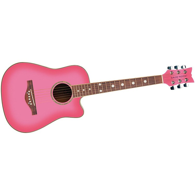 Daisy Rock 3/4 Dreadnought Wildwood Cutaway Pack Pink Burst