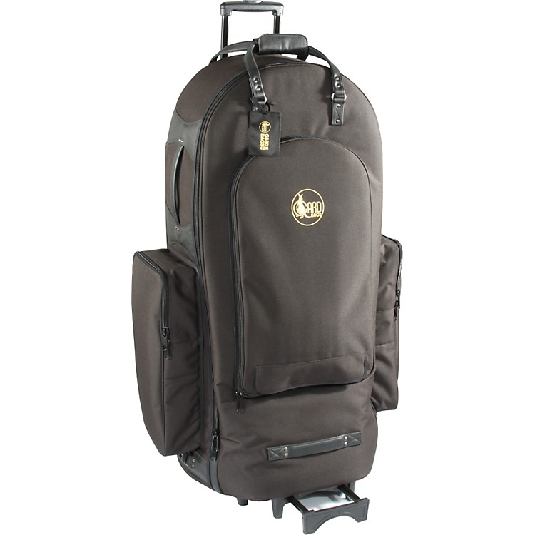 Gard 3/4 Tuba Wheelie Bag 61-WBFLK Black Ultra Leather
