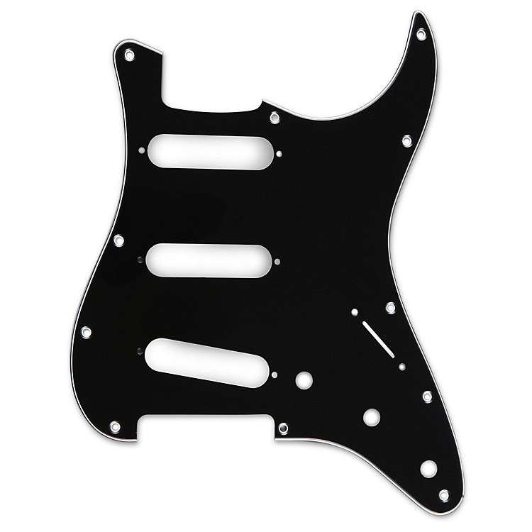 Musician's Gear 3 Single-Coil Pickguard Black