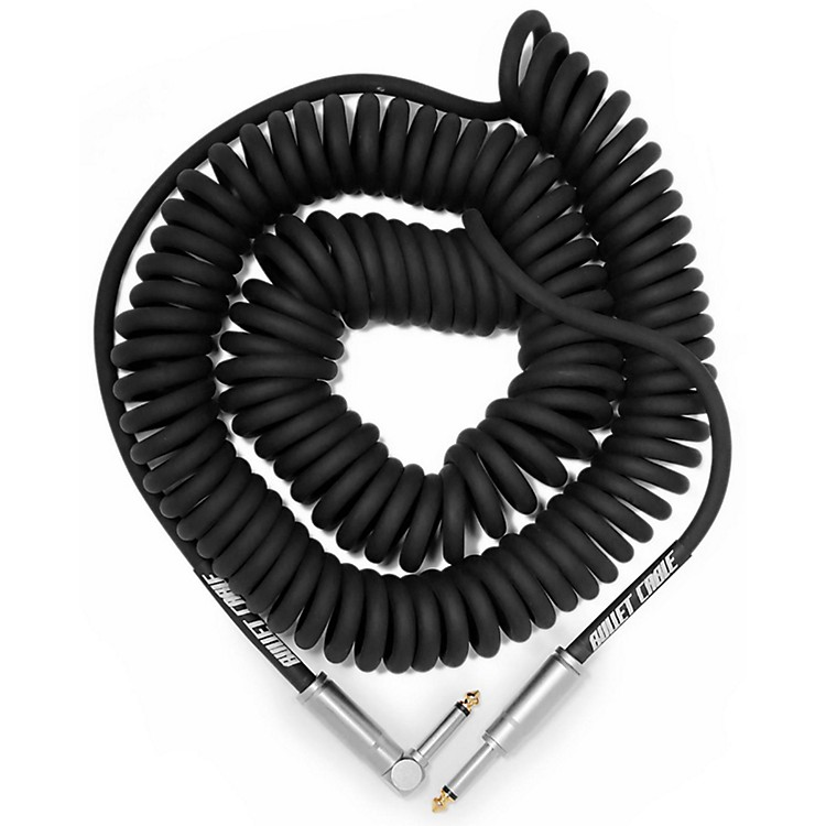 Bullet Cable30' Coil Cable - Straight - AngleBlack