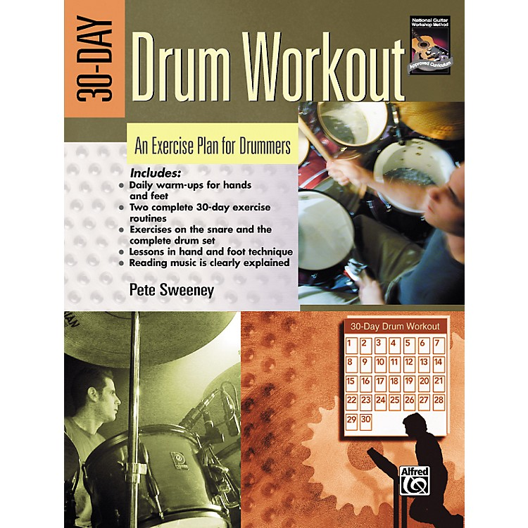 Alfred 30-Day Drum Workout (Book/DVD)