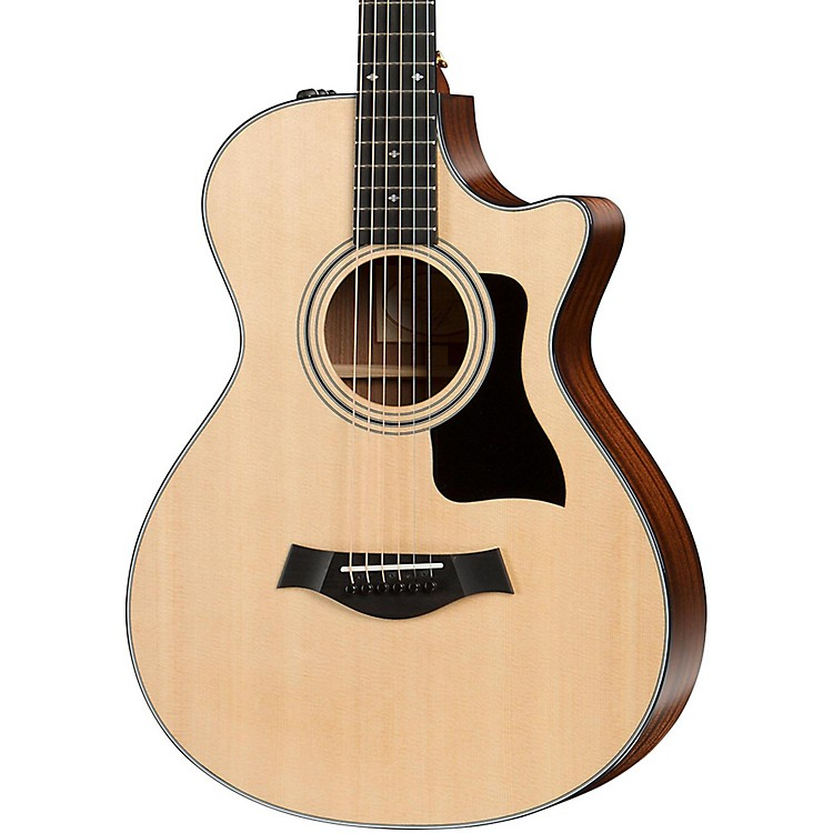 Taylor 300 Series 312ce 12-Fret Grand Concert Acoustic-Electric Guitar Natural