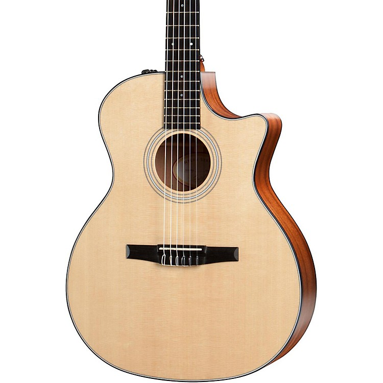 Taylor300 Series 314ce-N Grand Auditorium Nylon String Acoustic-ElectricNatural