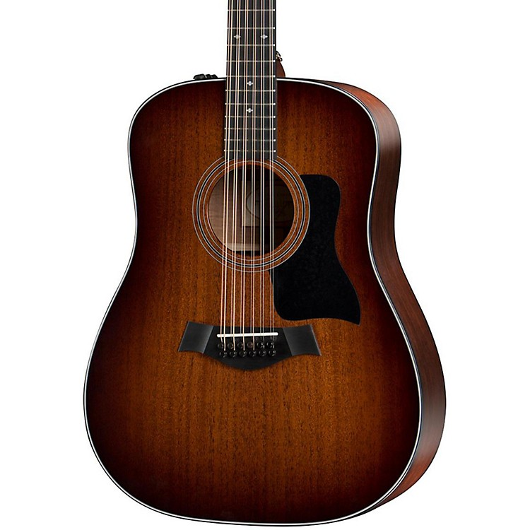 Taylor300 Series 360e Dreadnought 12-String Acoustic-Electric GuitarShaded Edge Burst