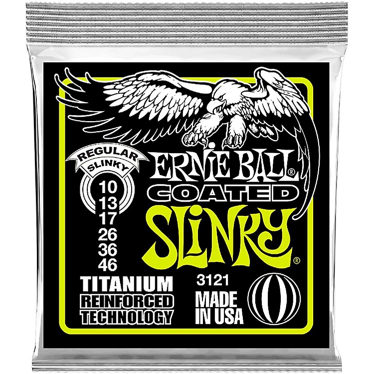 Ernie Ball 3121 Coated Titanium Slinky Electric Guitar Strings