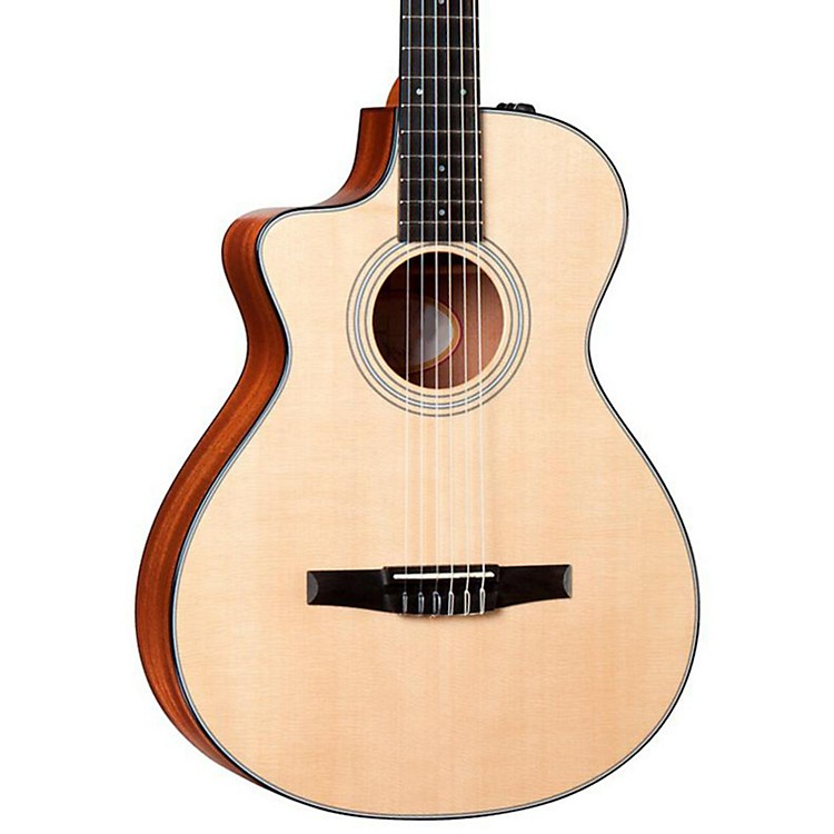 Taylor 312ce-N-L Sapele/Spruce Nylon String Grand Concert Left-Handed Acoustic-Electric Guitar Natural