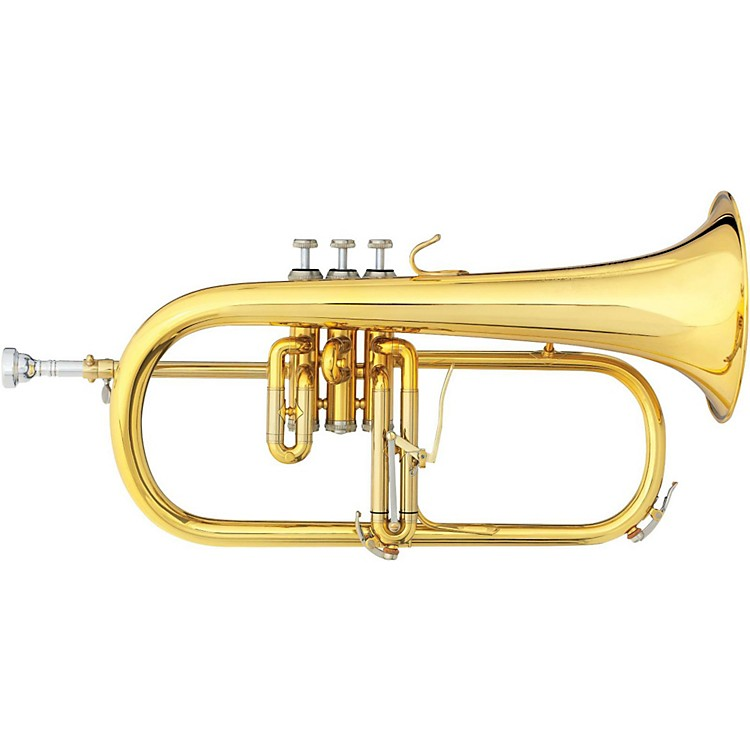 B&S 3146 Challenger II Brochon Series Bb Flugelhorn Gold Brass Bell