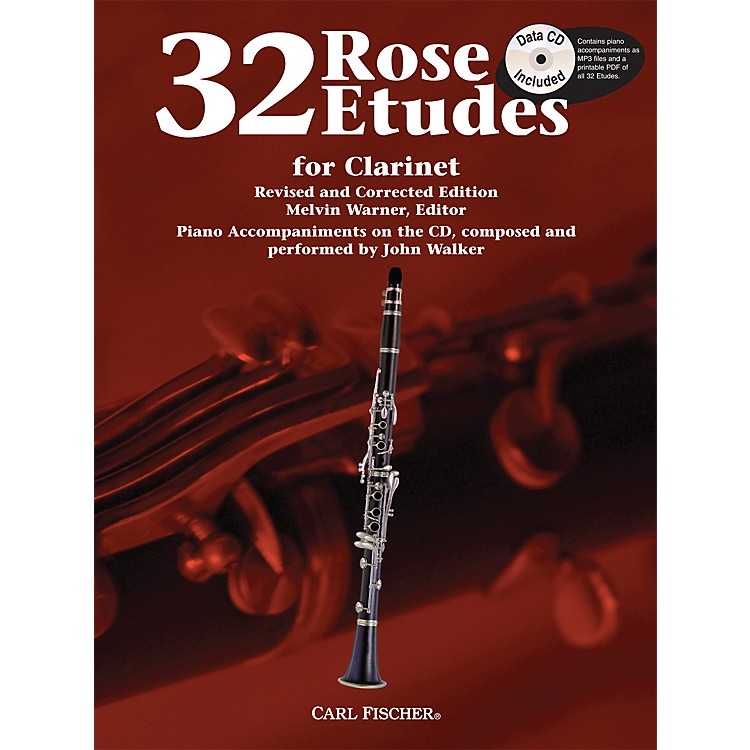 Carl Fischer 32 Rose Etudes for Clarinet