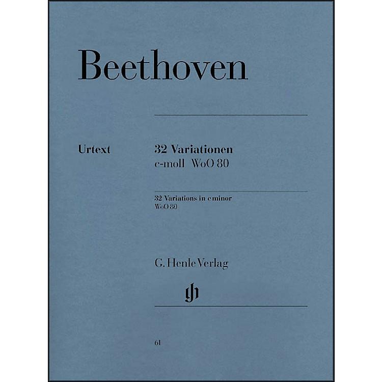 G. Henle Verlag32 Variations C Minor WoO 80 By Beethoven
