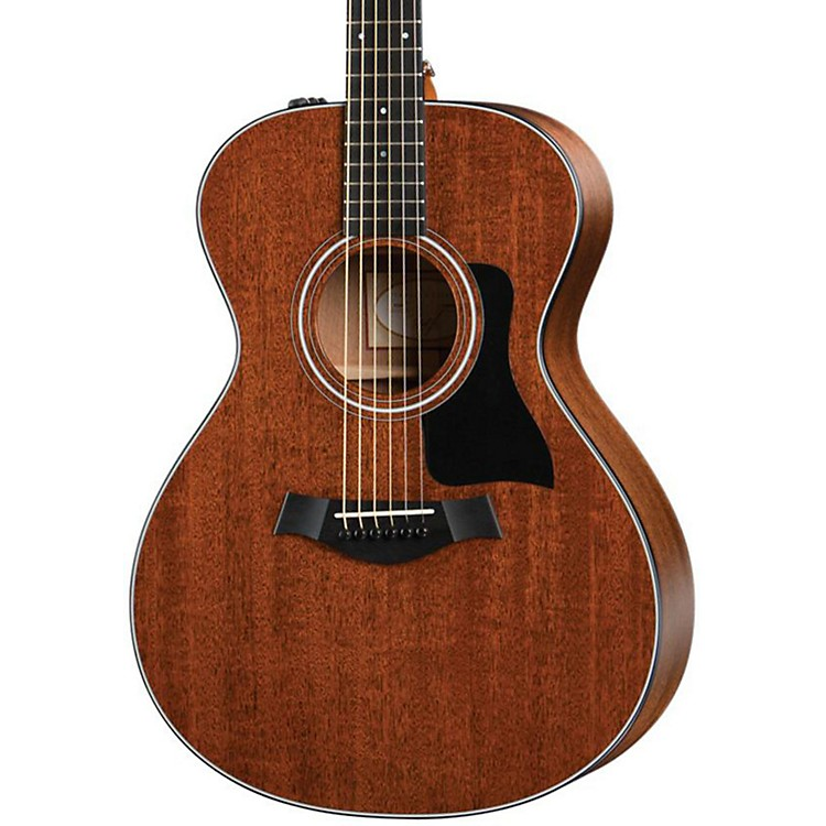 Taylor 322e Grand Concert Mahogany Top Sapele Non-Cutaway Acoustic-Electric Guitar Satin Natural Ebony Fingerboard, Black Pickguard
