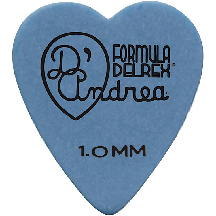 D'Andrea323 Heart Delrex Delrin Picks - One DozenBlue1.0 mm