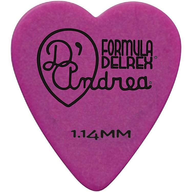 D'Andrea323 Heart Delrex Delrin Picks - One DozenPurple1.14MM
