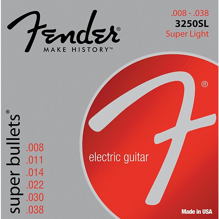 Fender3250SL Nickel-Plated Steel Bullet-End Electric Guitar Strings - Super Light
