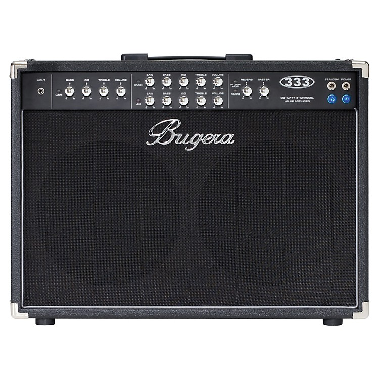Bugera333 120W 2x12 3-Channel Tube Guitar Combo Amp with Reverb