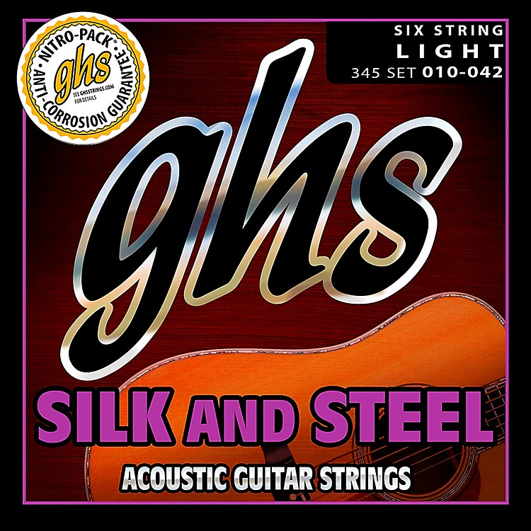 GHS345 Silk and Steel Acoustic Guitar Strings Light