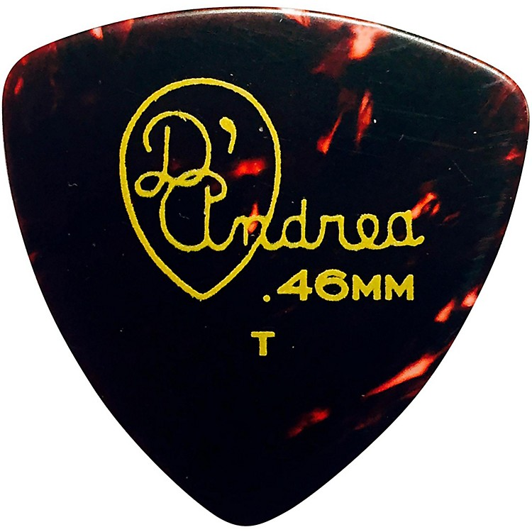 D'Andrea 346 Rounded Triangle Celluloid Guitar Picks - One Dozen Shell Thin