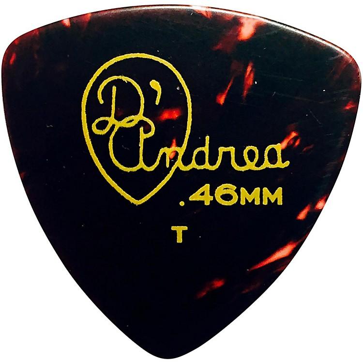 D'Andrea346 Rounded Triangle Celluloid Guitar Picks - One DozenShellThin