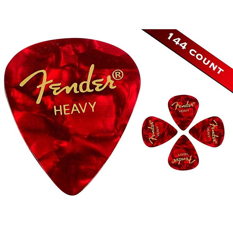 Fender351 Premium Heavy Guitar Picks - 144 CountRed Moto