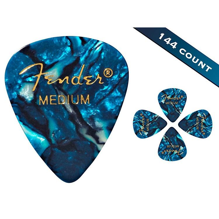 Fender351 Premium Medium Guitar Picks - 144 CountOcean Turquoise Moto