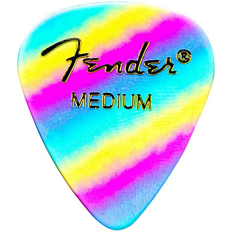 Fender351 Shape Premium Picks Thin Rainbow Celluloid - 12-packMedium12 Pack