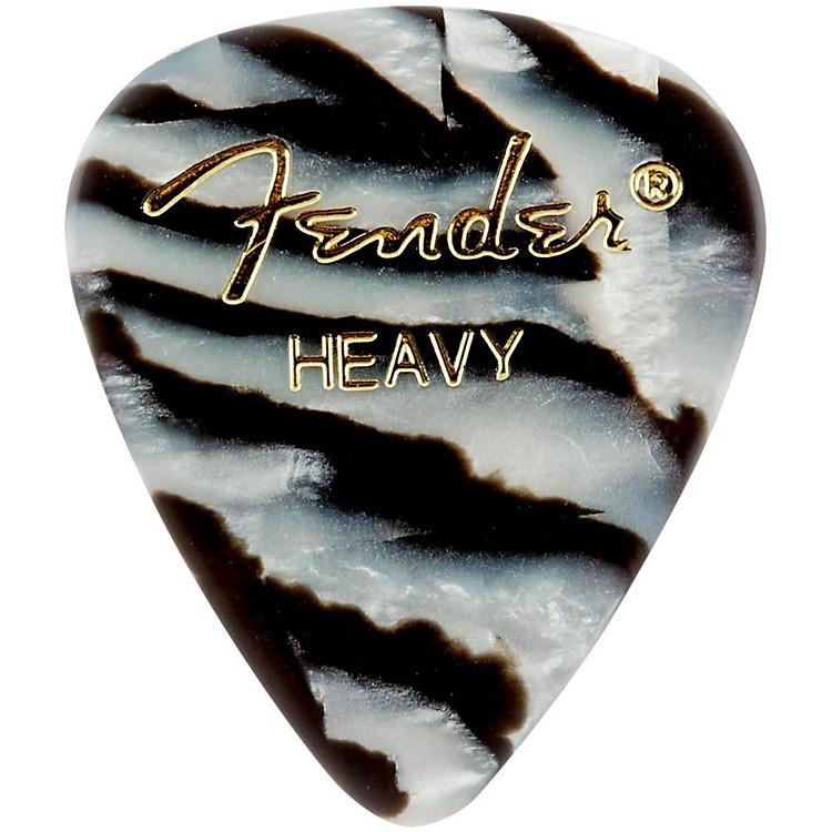 Fender351 Shape Premium Picks, Zebra CelluloidHeavy12 Pack
