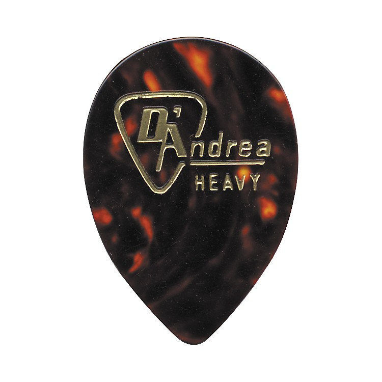 D'Andrea358 Guitar Picks Teardrop Celluloid Jazz One DozenShellHeavy