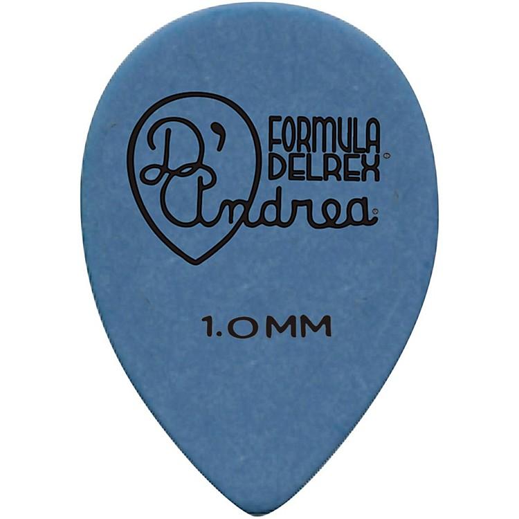 D'Andrea358 Small Delrex Delrin Guitar Picks Teardrop - One DozenBlue1.0MM