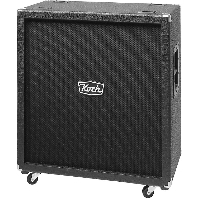 Koch 360W 4x12 Guitar Extension Cabinet Black, Black Straight