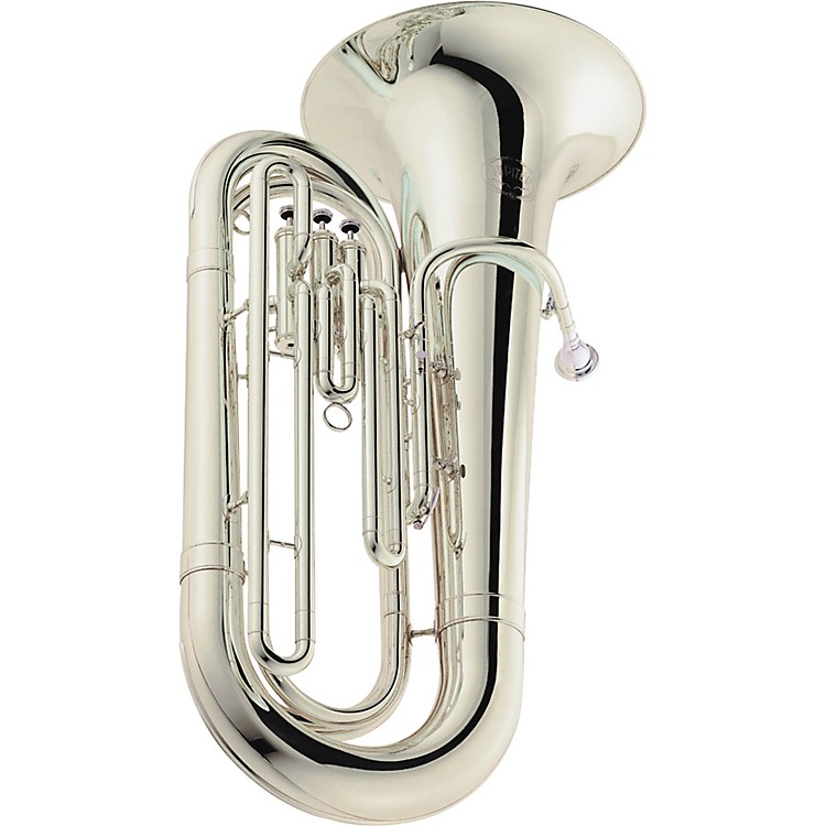 Jupiter 382 Compact Series 3-Valve 4/4 BBb Tuba Silver