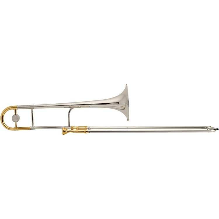 King3B Legend Series Trombone3BSXG Sterling Silver BellSilver with Gold Trim