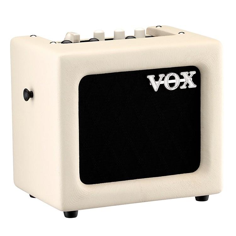Vox3W Battery-Powered Modeling AmpWhiteBlack Grill
