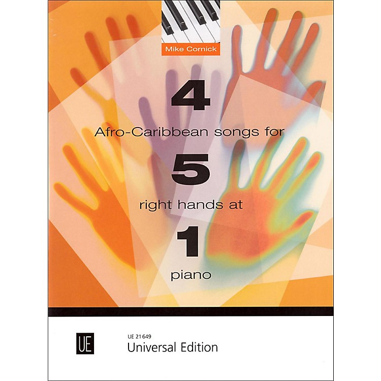 Carl Fischer4 Afro-Caribbean Songs for 5 Right Hands at 1 Piano Book