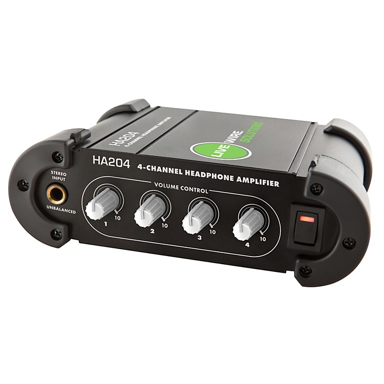 Live Wire Solutions 4-Channel Headphone Amplifier Black