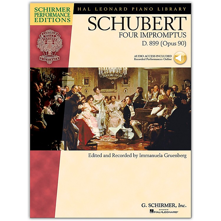 G. Schirmer 4 Impromptus, Op. 90 - Piano - Schirmer Performance Edition Book/CD By Schubert / Gruenberg