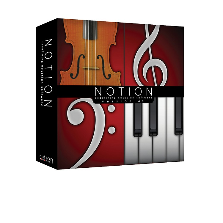 Notion 4 Music Notation Software