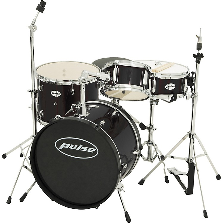 Pulse 4-piece Junior Drum Set Black