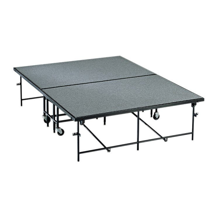 Midwest Folding Products4' x 8' Mobile Stage8 in. High, Pewter Gray Carpet