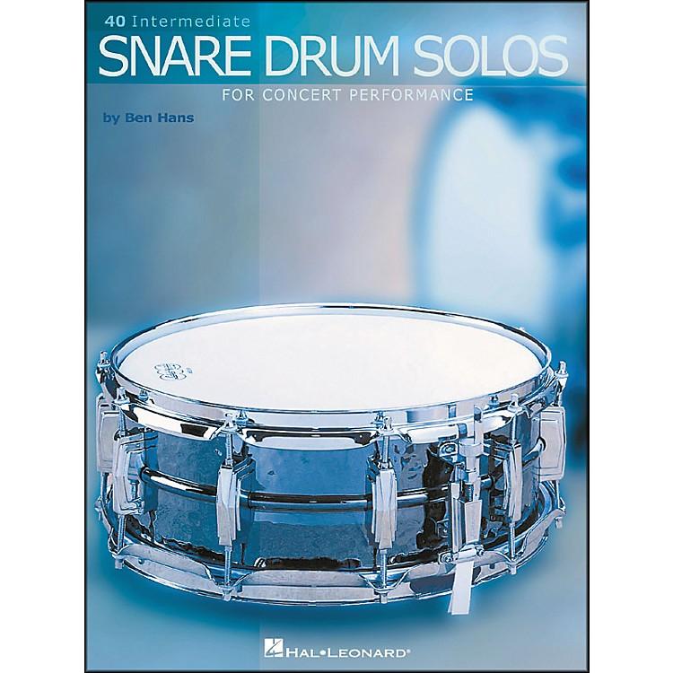 Hal Leonard40 Intermediate Snare Drum Solos for Concert Performance
