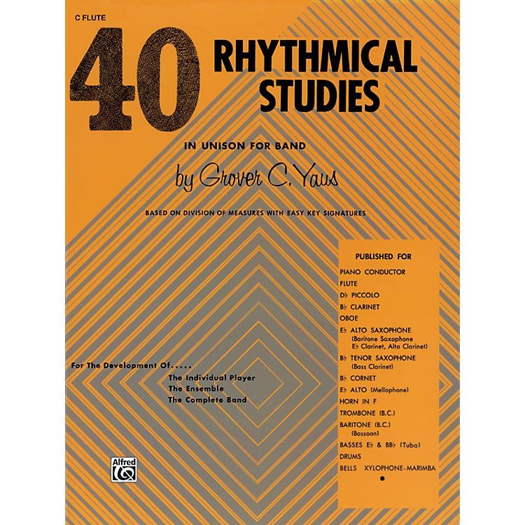 Alfred40 Rhythmical Studies C Flute (Piccolo)