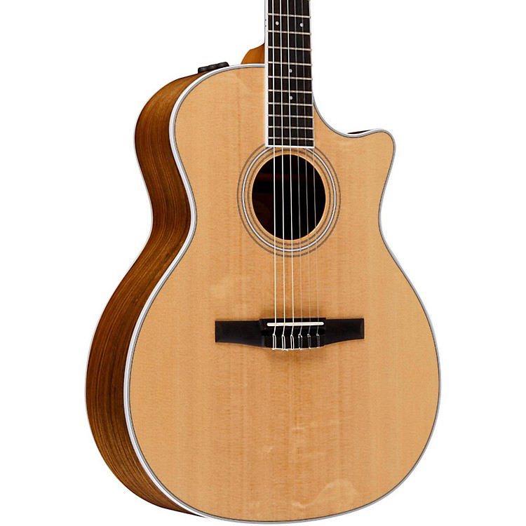 Taylor 400 Series 414ce-N Grand Auditorium Nylon String Acoustic-Electric Guitar Natural
