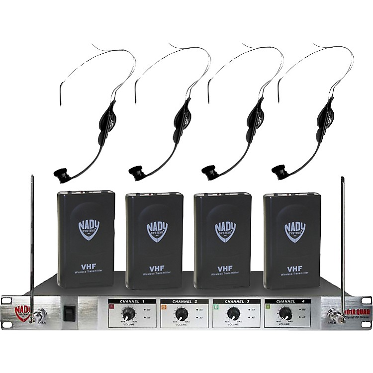 Nady 401X Quad HM-1 Headset Wireless System