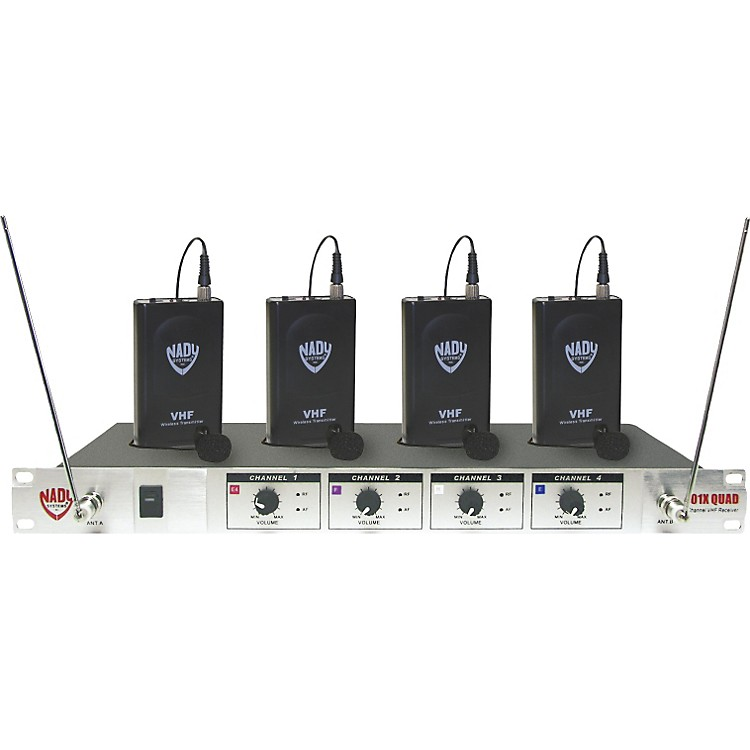 Nady 401X Quad LT Wireless Lavalier Microphone System