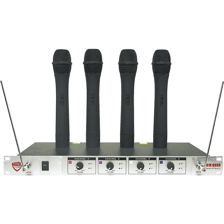 Nady401X Quad WHT Handheld VHF Wireless Microphone System