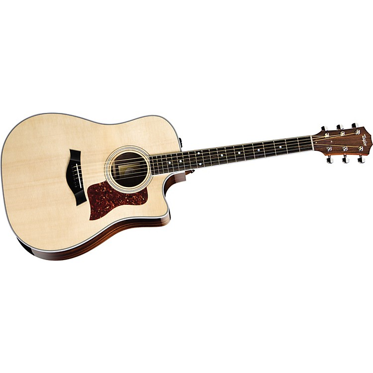 Taylor 410ce-L Ovangkol/Spruce Dreadnought Left-Handed Acoustic-Electric Guitar Natural