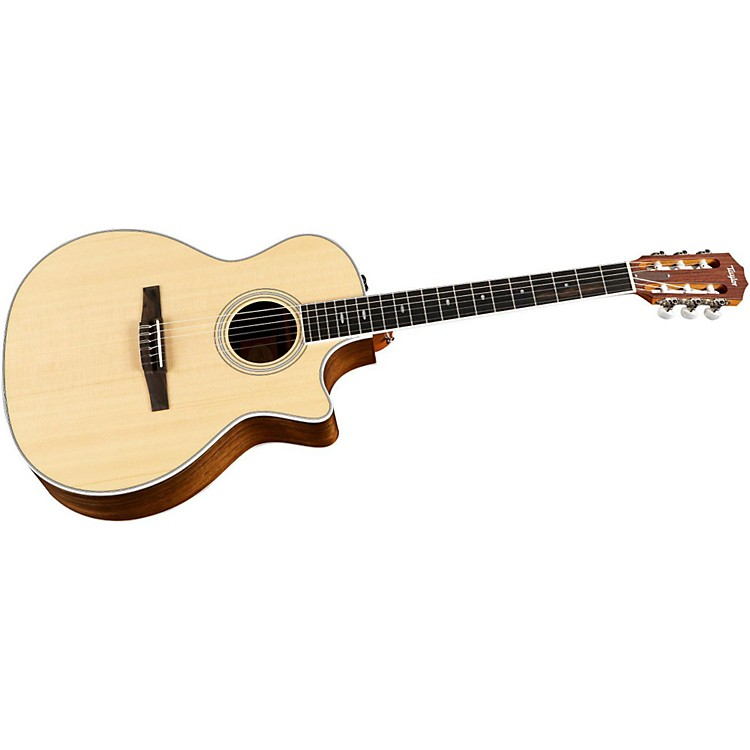 Taylor 414ce-N Ovangkol/Spruce Nylon String Grand Auditorium Acoustic-Electric Guitar Natural