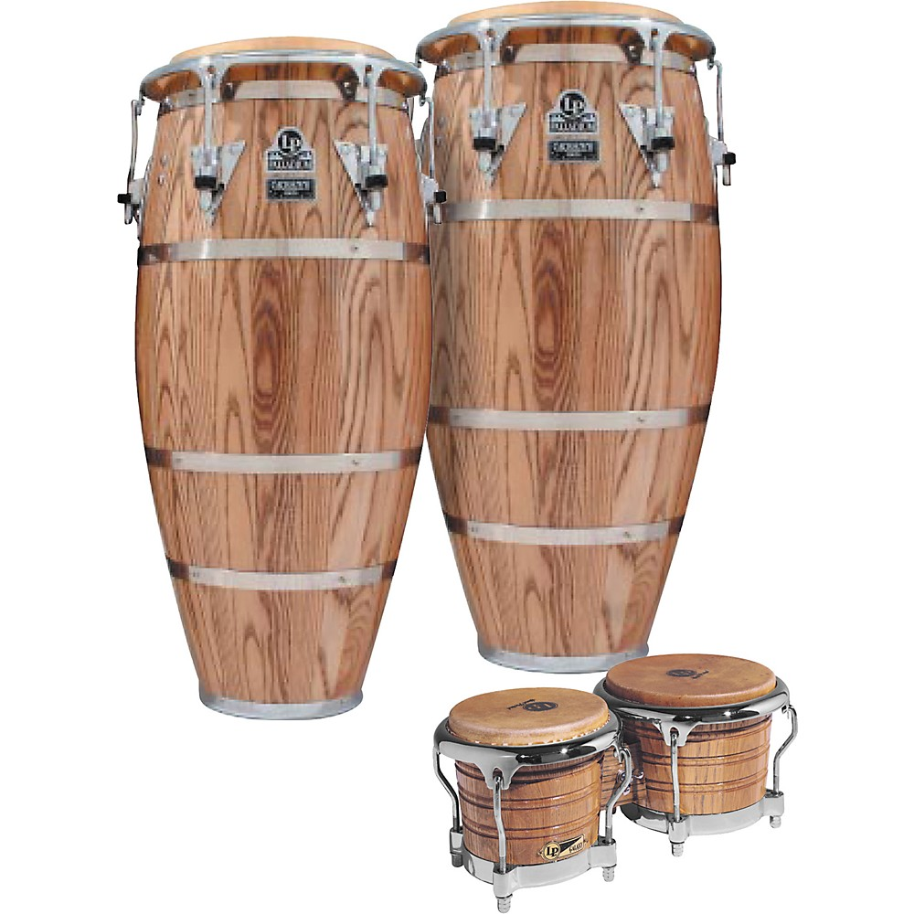 lp latin percussion palladium conga set w bongos ebay. Black Bedroom Furniture Sets. Home Design Ideas