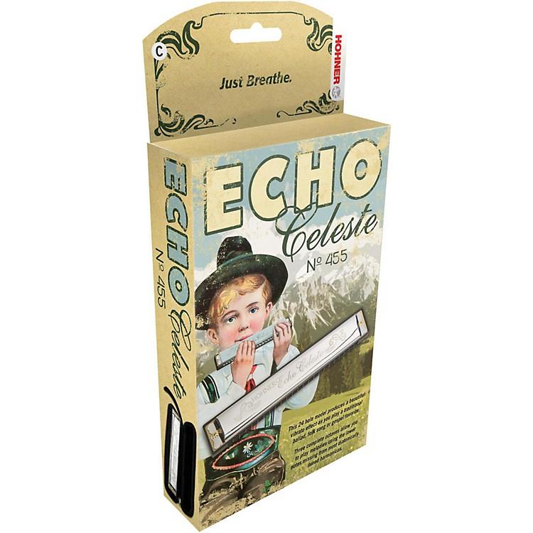 Hohner455 Echo Celeste Tremolo HarmonicaEb