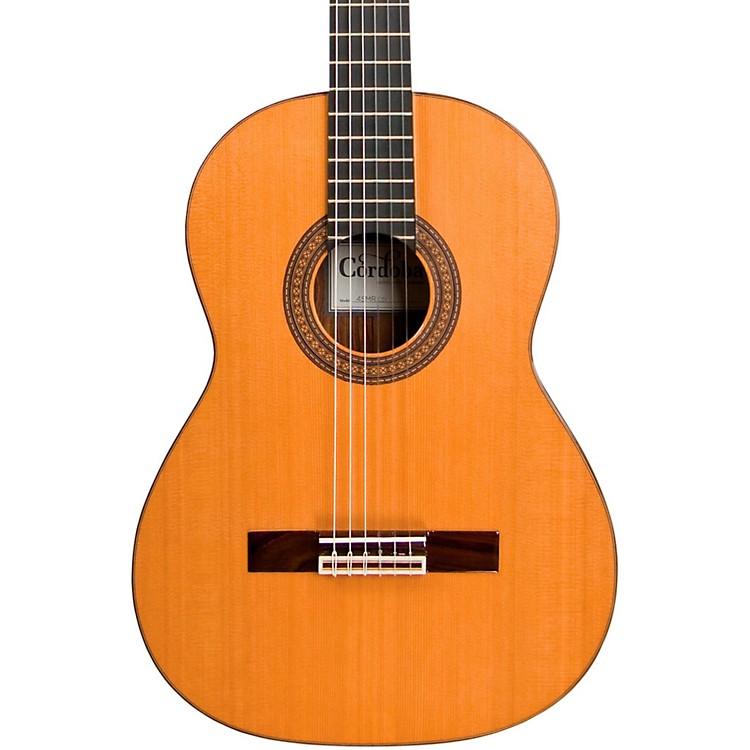 cordoba 45mr nylon string acoustic guitar cd mr natural music123. Black Bedroom Furniture Sets. Home Design Ideas